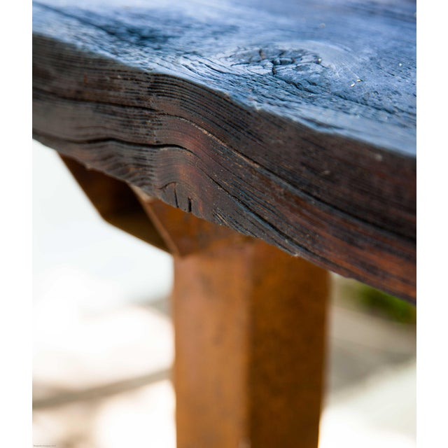 Wabi-Sabi Yakisugi Wood Dining Island Table Console - Image 11 of 11