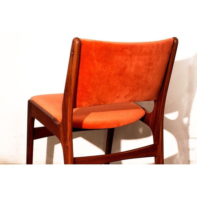 Arne Vodder Style Teak Side Chairs - Set of 4 - Image 9 of 9