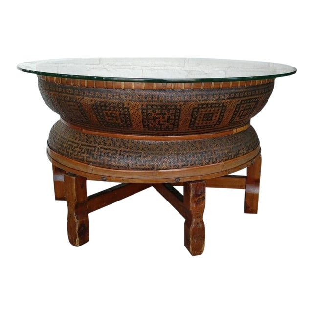 Boho Style Coffee Table - Image 1 of 7