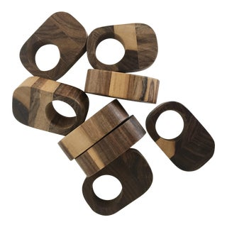 Wooden Napkin Rings - Set of 8