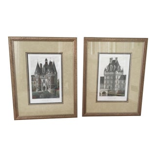 Loire Valley Chateau Prints - A Pair