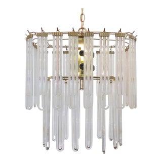 1970's Mid-Century Modern Glass Chandelier