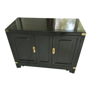 American of Martinsville Asian Style Black Lacquered Buffet
