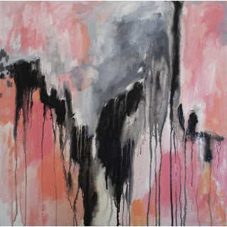 'Paris Match' Abstract Painting on Canvas
