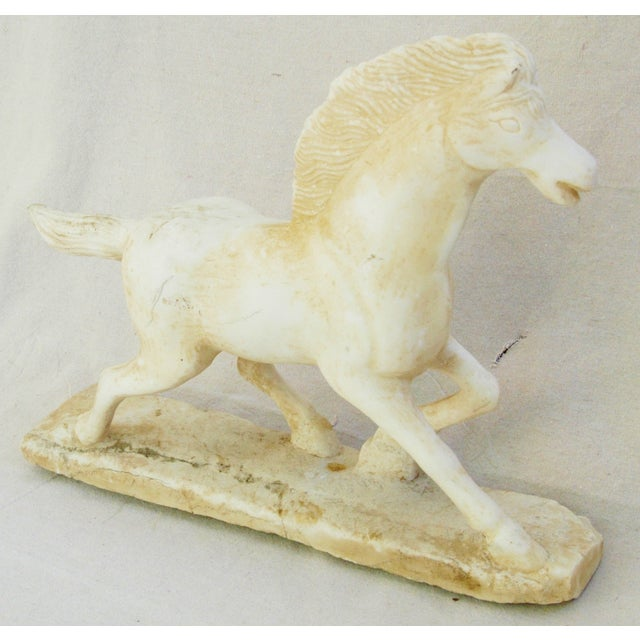 1940's Carved Marble Horse Statue - Image 8 of 11