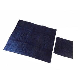 Malian Indigo Mud Cloth Textiles - S/2