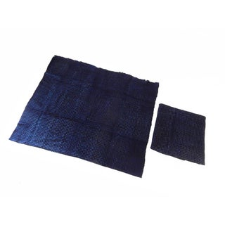 Malian Indigo Mud Cloth Textiles - S/2