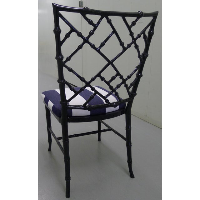 Kessler Black Bamboo-Style Dining Chairs - Set of 6 - Image 7 of 7