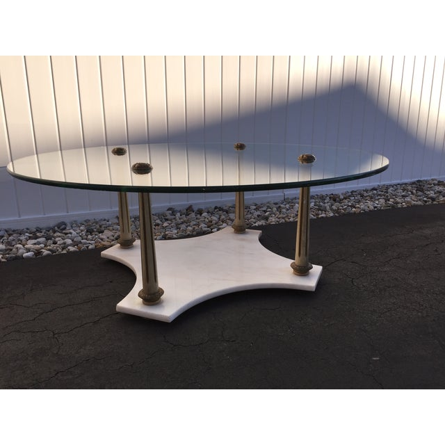 Hollywood Regency Marble Glass Tables - Set of 3 - Image 5 of 7