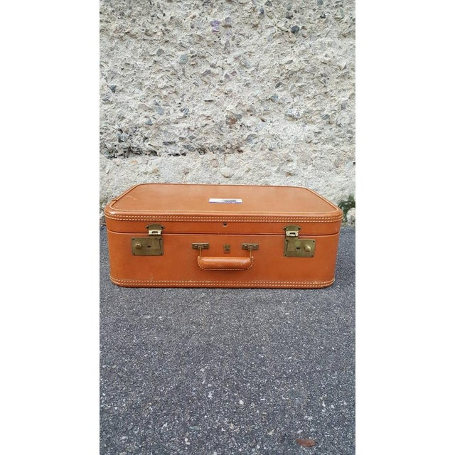 1950's Leather Suitcase Trunk - Image 3 of 5