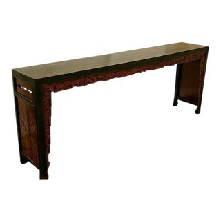 Chinese Antique Carved Console Table