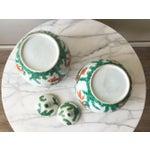 Image of Vintage Chinese Porcelain Koi Ginger Jars - A Pair