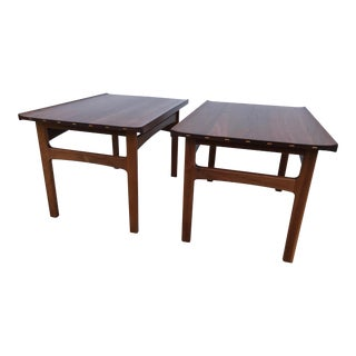 Dux Danish Modern Teak Side Tables - A Pair