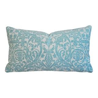 Jumbo Custom Italian Mariano Fortuny Uccelli Lumbar Pillow