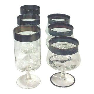Dorothy Thorpe Water Goblets and Shrimp Cocktail Glasses - Set of 6
