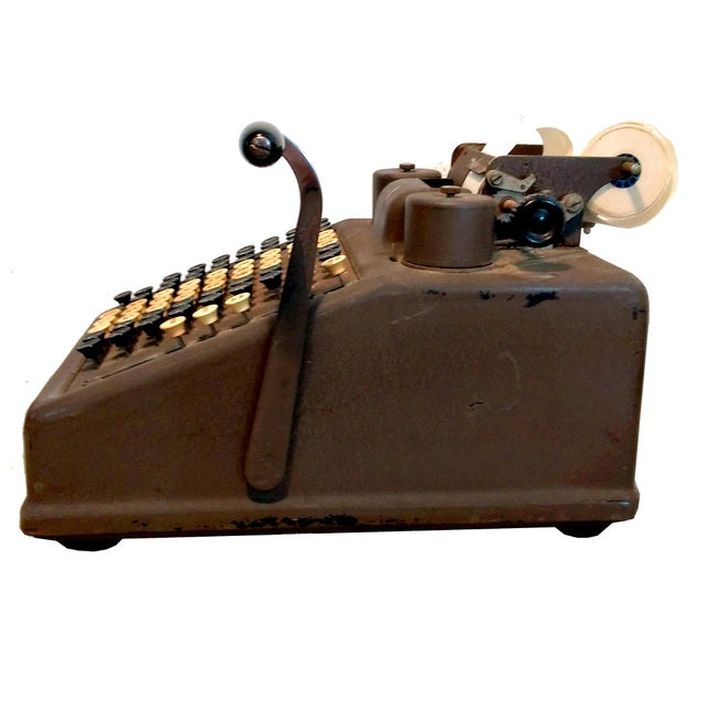 Image of Vintage Industrial Brown Cash Register