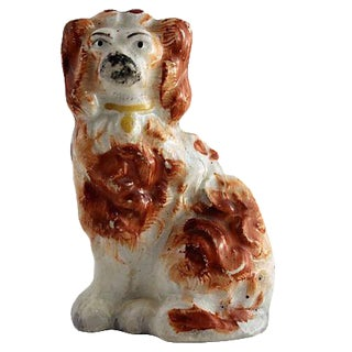 Antique Staffordshire Mini King Charles Spaniel