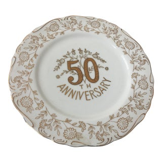 Norcrest Fine China 50th Anniversary Plate