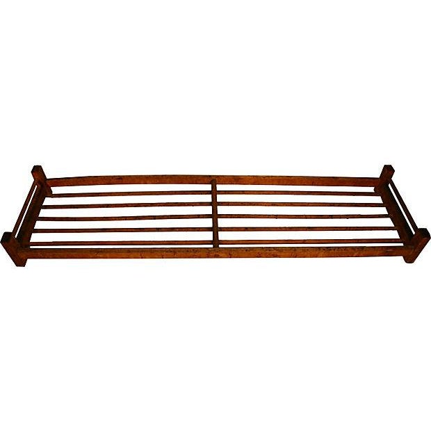 Wooden Dowel Industrial Shoe Rack - Image 1 of 3