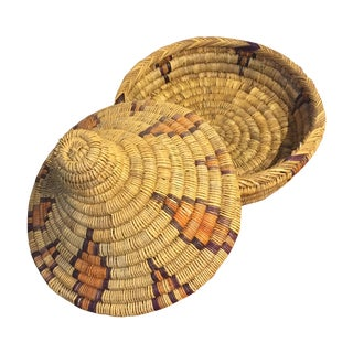 Moroccan Basket With Lid
