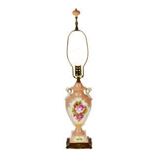 Vintage Victorian Style Urn Form Porcelain Table Lamp