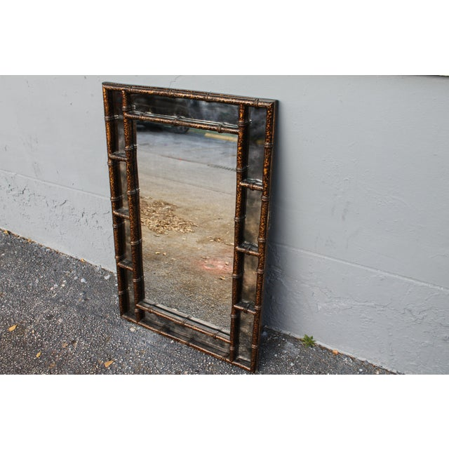 Mid-Century Faux Tortoise Wall Mirror - Image 5 of 11