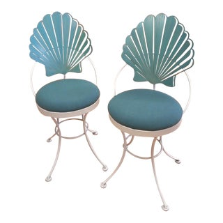 Shell Back Patio Chairs - A Pair