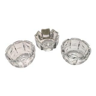 Vintage Orrefors Crystal Candleholders - Set of 3