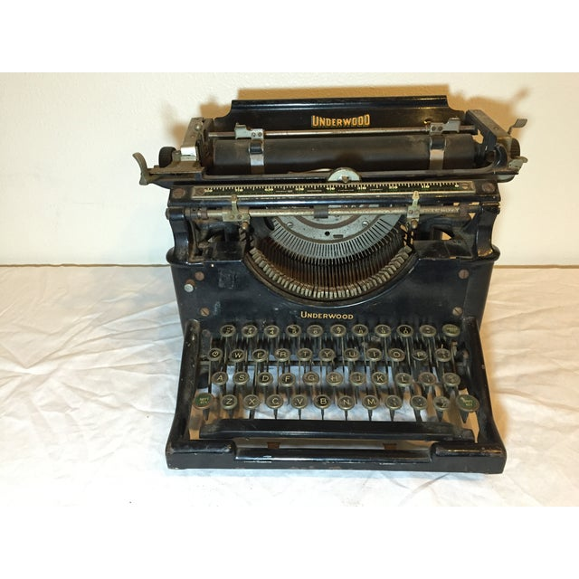 Antique 1908 Black Underwood Typewriter - Image 2 of 11
