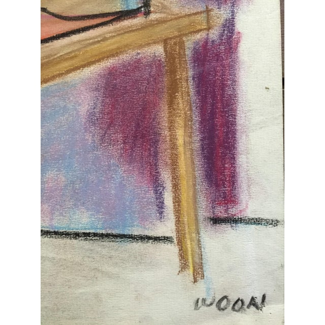 Henry Woon 1950s Pastel Male Figurative Drawing - Image 6 of 7