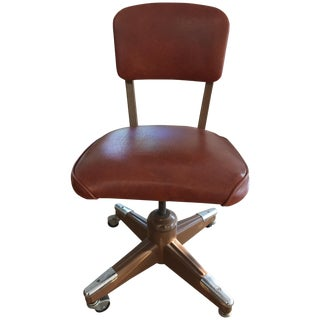 Vintage Brown Office Chair