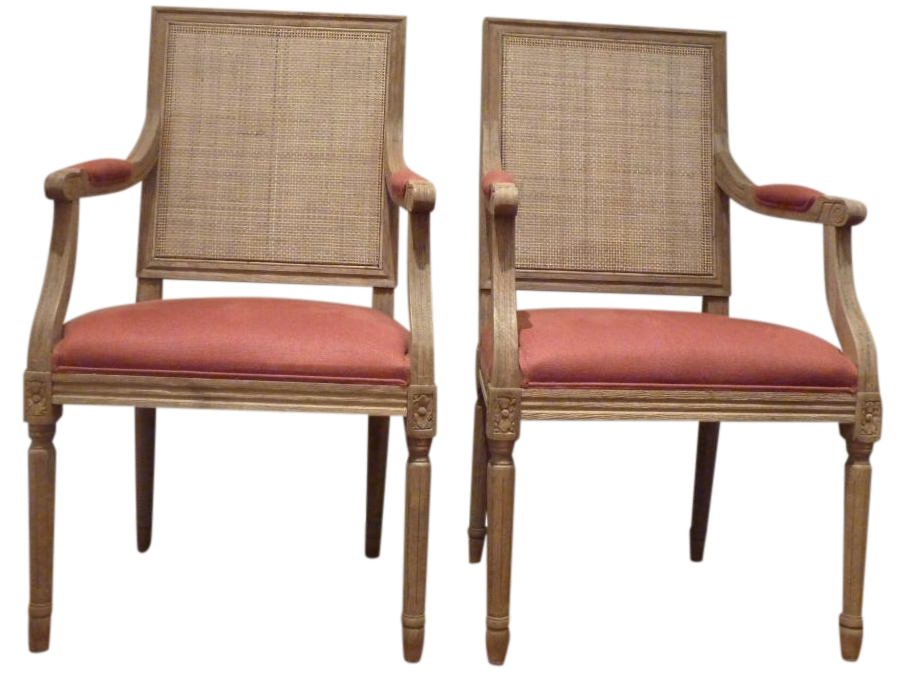 restoration hardware cane back chairs pair - Restoration Hardware Outdoor Furniture