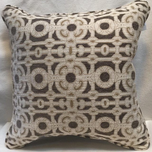 Cream & Brown Custom Pillow - Image 3 of 8