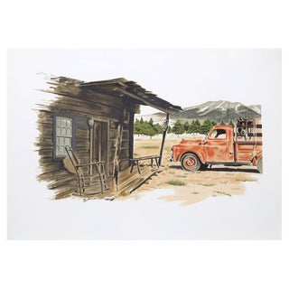 Henry Fonda, Red Truck, Lithograph