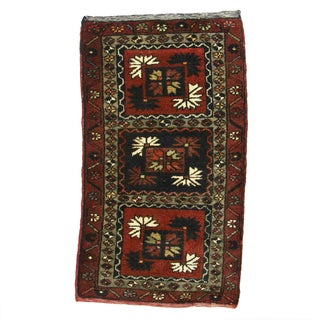 "Vintage Kurdish Carpet - 1'9"" X 3'1"""