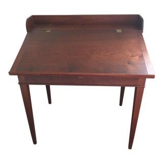 Walnut Slant Top Writing Desk