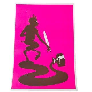 Ink Spill Lithograph Art