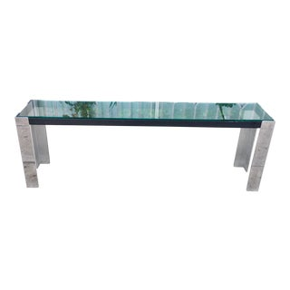 Vintage Glass Console Table