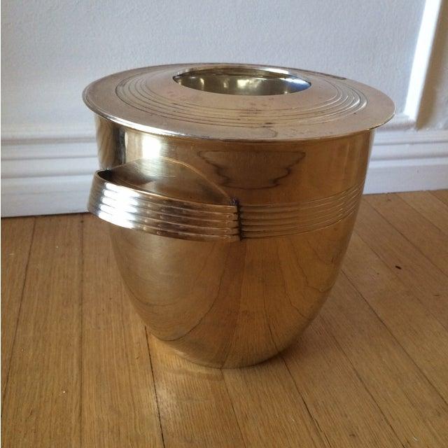 Vintage Art Deco Brass Lidded Ice Bucket - Image 10 of 10