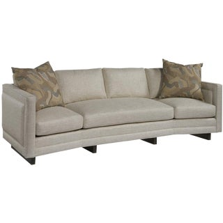 Speckled Linen Angled Sofa