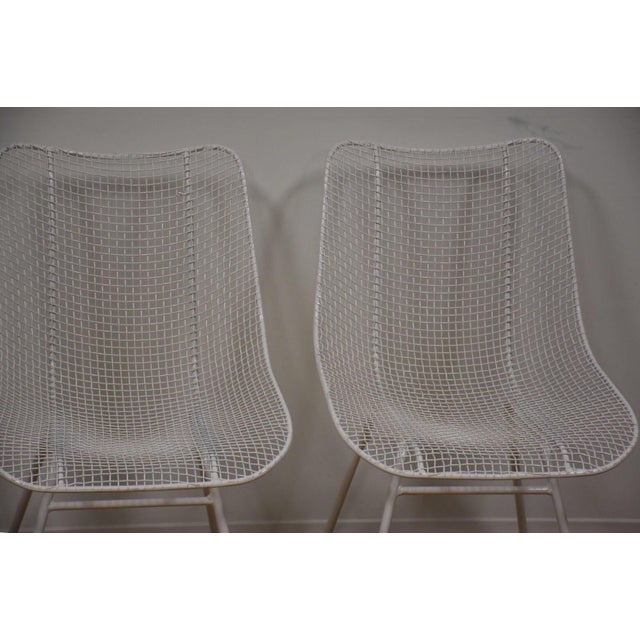 Russell Woodard 'Sculptura' White Patio Dining Chairs- Set of 4 - Image 3 of 7