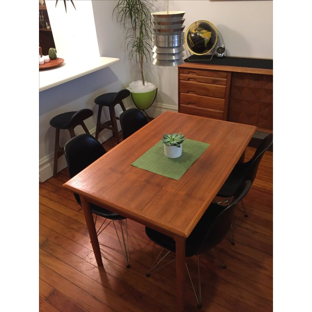 Mid-Century Modern Draw Leaf Dining Table - Image 3 of 6