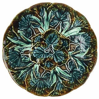 Swedish Majolica Leaf Plate