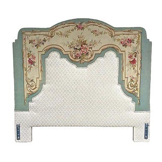 Antique Aubusson Tapestry Headboard
