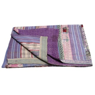 Pushpa Bengal Kantha Throw