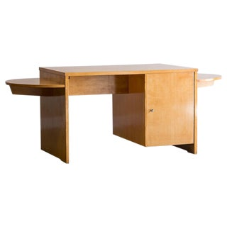 Art Deco Period Vintage French Maplewood Desk circa 1930
