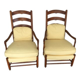 Mid-Century Hickory Chair Cherry Fireside Armchairs - A Pair