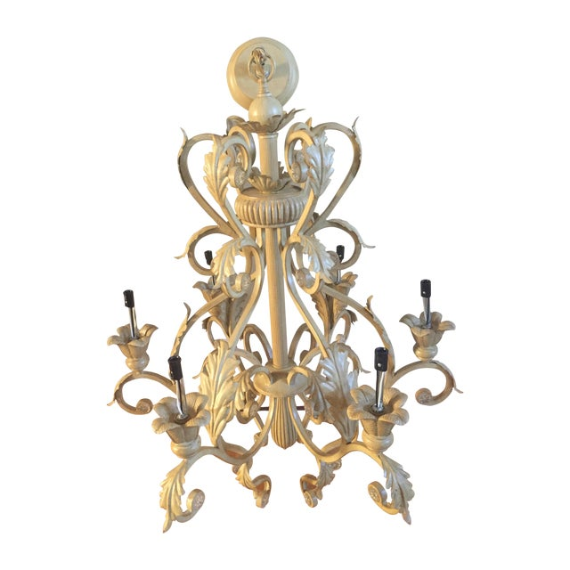 Antique Six-Light Chandelier - Image 1 of 3