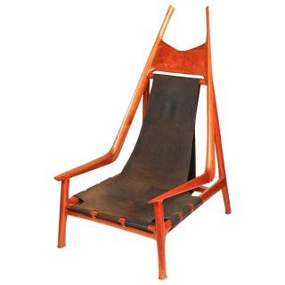 "Miles Karpilow Sculptural ""Osborne"" Lounge Chair"