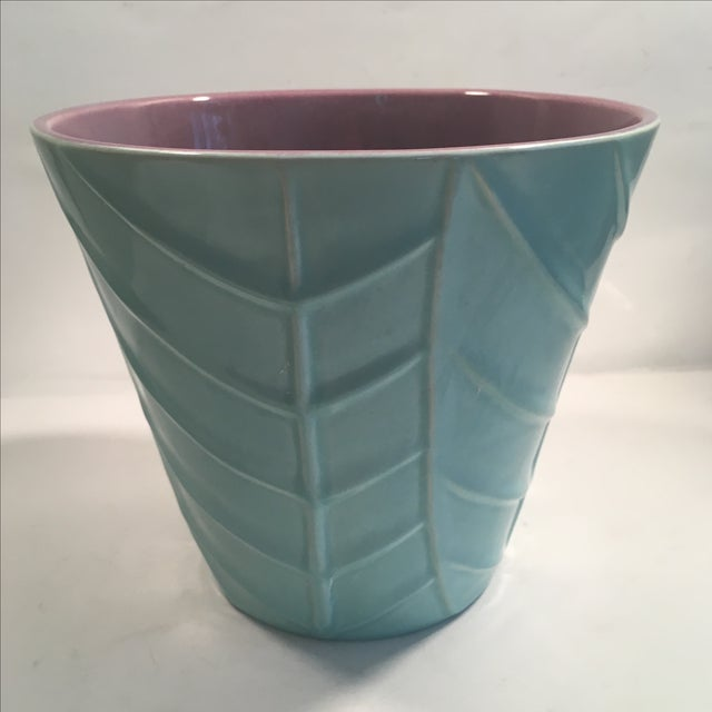 Image of Vintage Blue Catalina Ceramics Planter